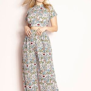 Redbolls Flower and Vines top and pants set